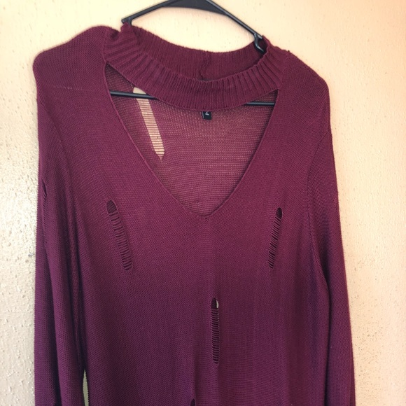 Derek Heart Dresses Plus Size 2x Distressed Sweater Dress Poshmark